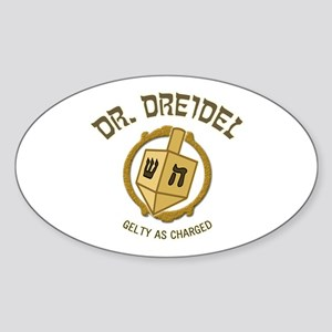 Dr. Dreidel - Oval Sticker